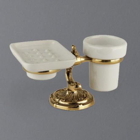 Держатель стакана и мыльницы настольный ART&MAX-1789-C