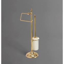 Стойка напольная для унитаза и биде с держателем щетки и туалетной бумаги ART&MAX AM-1949