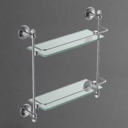 Полка стеклянная двойная подвесная ART&MAX ANTIC CRYSTAL AM-2682BSJ