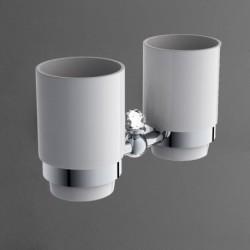 Держатель стакана двойной подвесной ART&MAX ANTIC CRYSTAL AM-E-AM-2688SJ