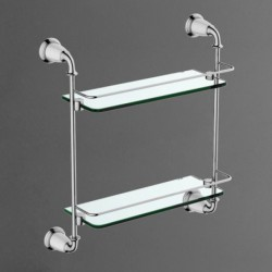 Полка стеклянная двойная подвесная ART&MAX BIANCHI AM-E-2611-D