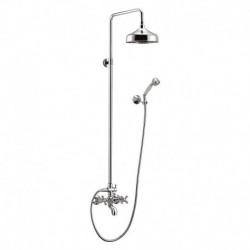 Душевая колонна со смесителем для ванны, верхнего и ручного душа CEZARES RETRO-CVD1