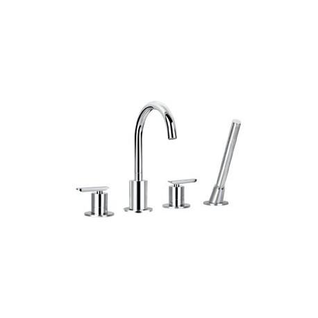 Смеситель на борт ванны с ручным выдвижным душем CEZARES SIESTA-BVD4-01