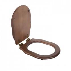TW Bristol Сиденье для подвесного унитаза, цвет орех/бронза, (микролифт)