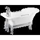 "Ванна белая, на лафете ""меандр"" Impero Affusto M"