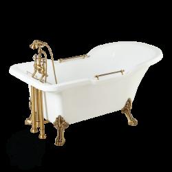 """Ванна белая, на лапах """"Leone"""" Impero"""