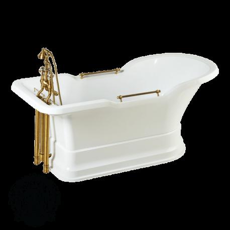 Ванна белая, на белом подиуме Impero Podium