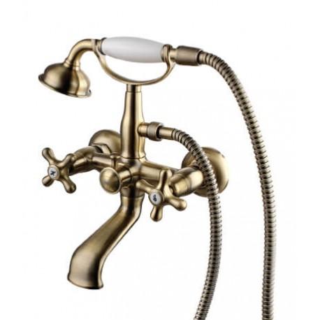Смеситель для ванны с фиксированным изливом