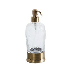 VINTAGE диспенсер жид мыла на держателе стекло
