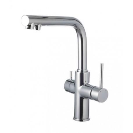 Смеситель для кухни с подключением к фильтру питьвой воды, хром, высота 349 мм
